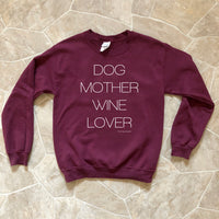 Dog Mother Wine Lover Sweatshirt