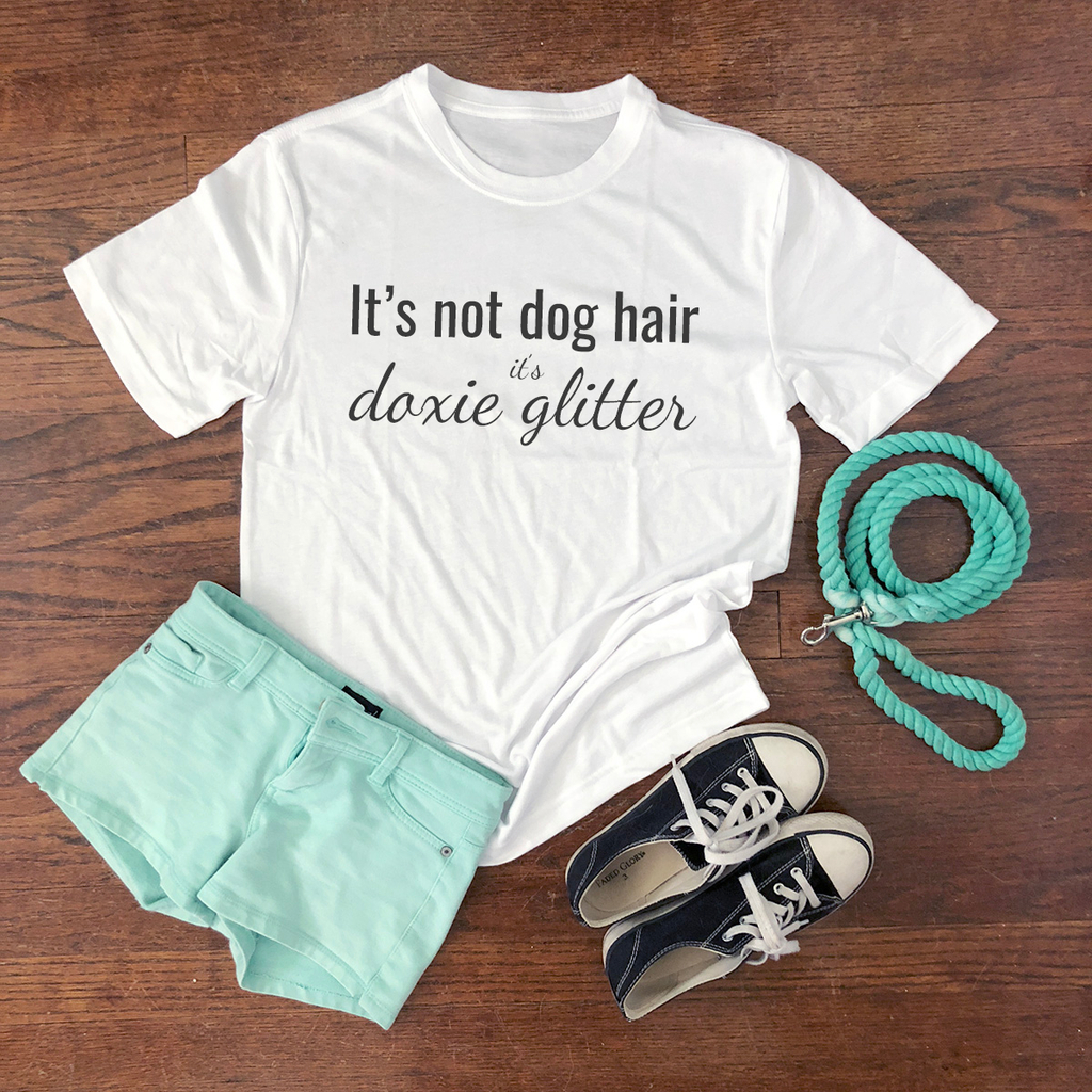doxie glitter short sleeve shirt