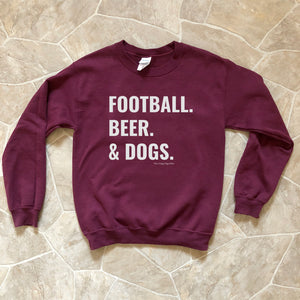 Football Beer and Dogs Sweatshirt