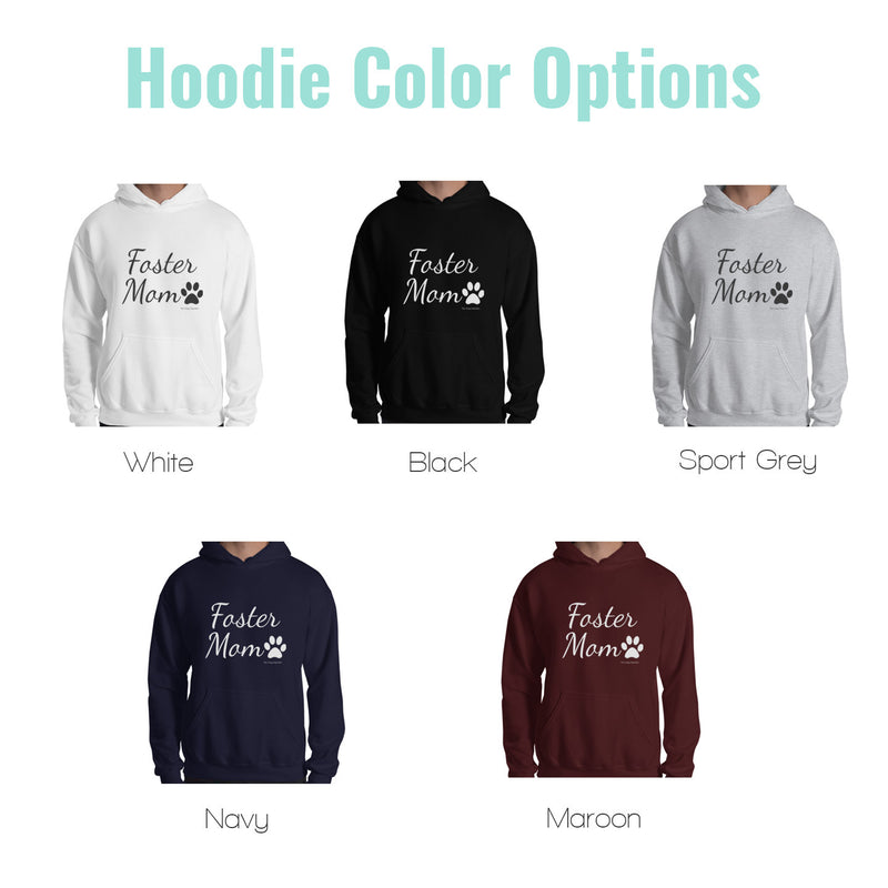 dog mom hoodie color options