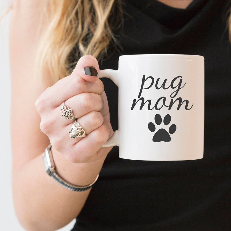 pug mom coffee cup
