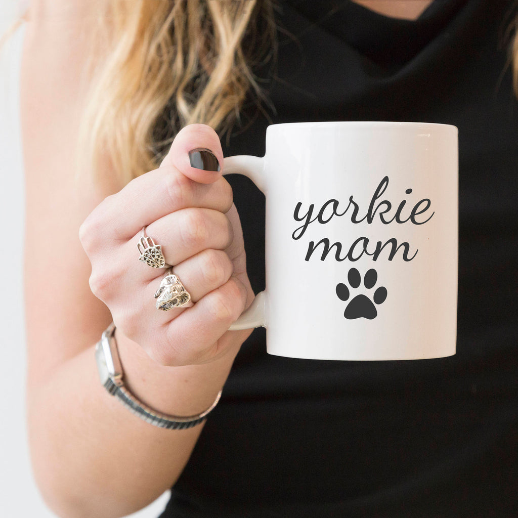 yorkie mom coffee mug