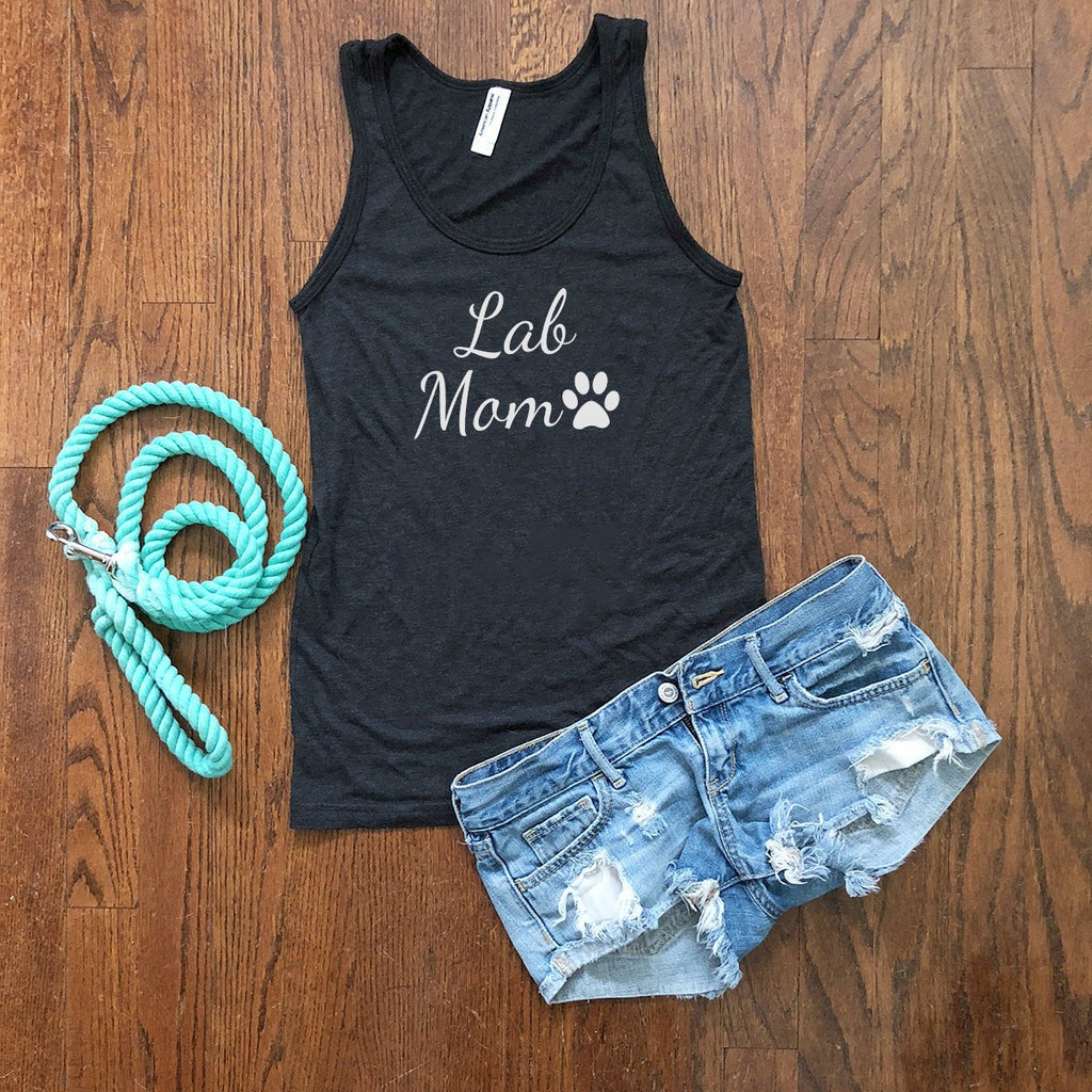 lab dog mom tank top