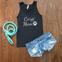 corgi mom tank top