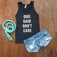 dog hair don't care tank top