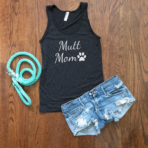 mutt dog mom tank top