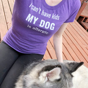 dog is allergic to kids shirt