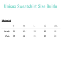 sweatshirt sizes