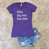 wifey dog mom shirt