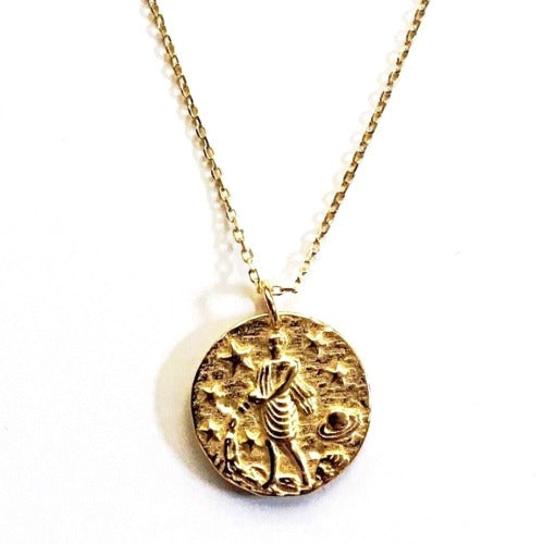 Milky Way Coin Necklace Aquarius Cristalore