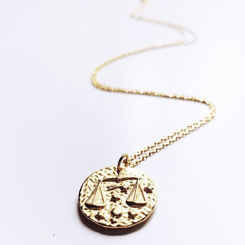 Libra Coin Necklace Cristalore
