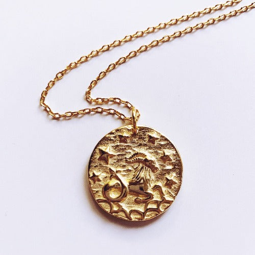 Capricornus Coin Necklace - Capricorn