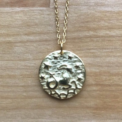 Capricornus Coin Necklace