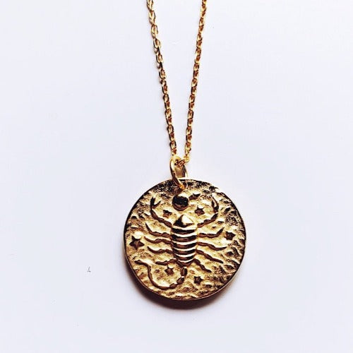 Scorpio Coin Necklace