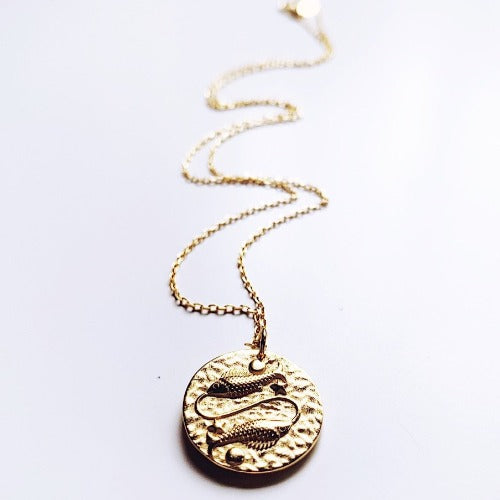 Pisces Coin Necklace Cristalore