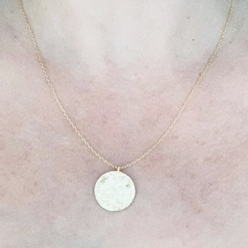 Saturn Coin Necklace Cristalore