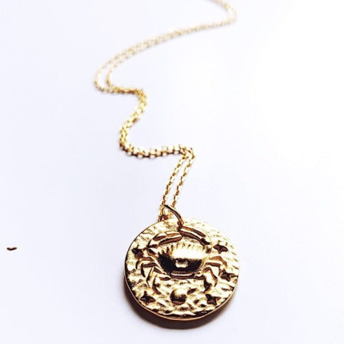 Cancer Coin Necklace Cristalore