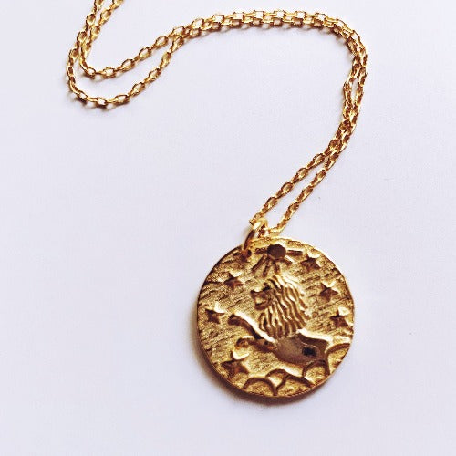 Leonidas Oath Coin Necklace - Leo