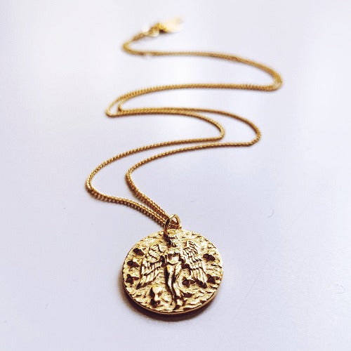 Eos's Love Coin Necklace - Virgo