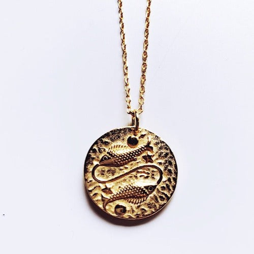 Pisces Coin Necklace
