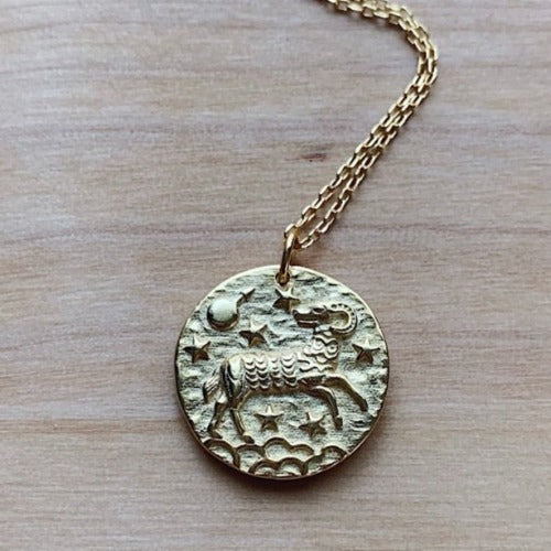 Aries Coin Necklace Cristalore