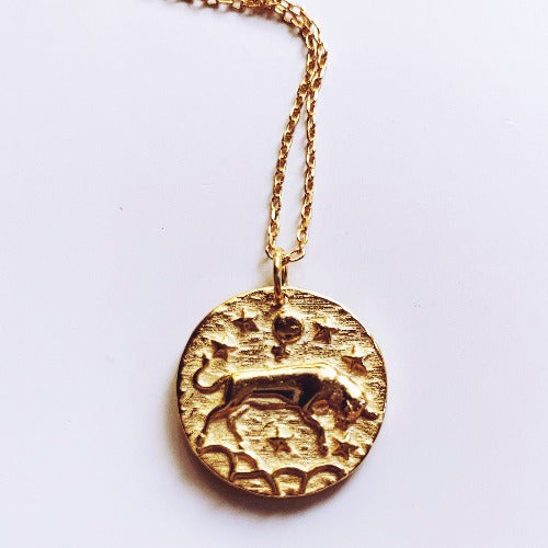 Taurus Coin Necklace Cristalore