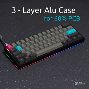 3-Layer Aluminum Case - 60% Keyboard Case