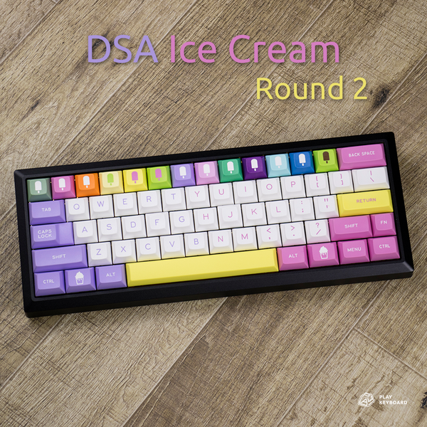 DSA Ice Scream Round2 - ABS Doubleshot Keycaps