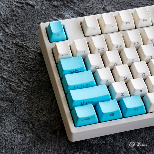 Cream Blue - Side Printed OEM PBT Keycaps