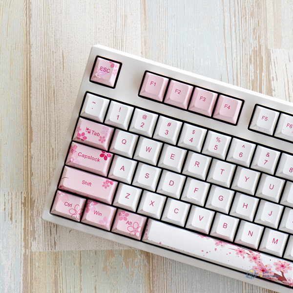 Sakura - All Over Dye-Subbed Cherry Profile PBT Keycaps