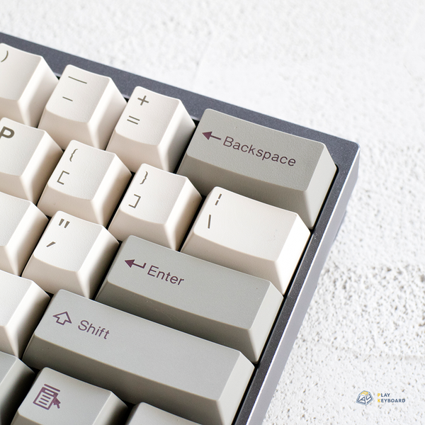 Retro Grey - Cubic ABS Doubleshot Keycaps