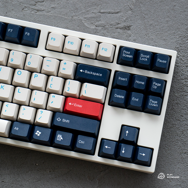 England Blue - ABS Doubleshot Keycaps