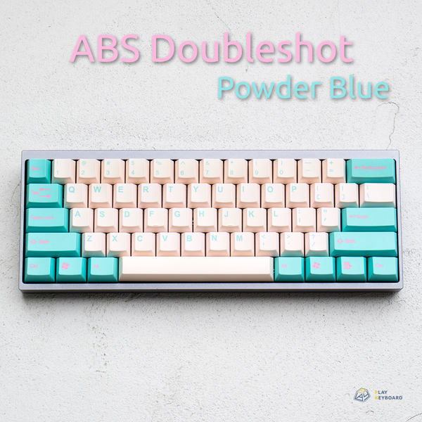 Powder Blue - Cubic ABS Doubleshot Keycaps