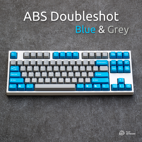 Blue & Grey - ABS Doubleshot Keycaps