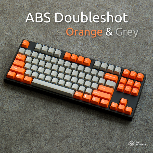 Orange & Grey - ABS Doubleshot Keycaps