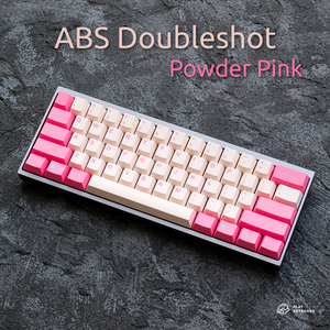 Powder Pink - Cubic ABS Doubleshot Keycaps