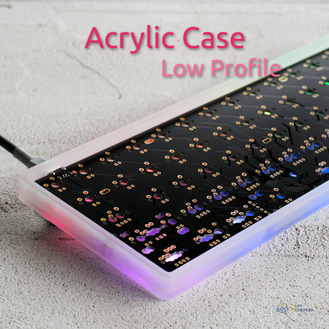 Low Profile Acrylic Case - 60% Keyboard Case