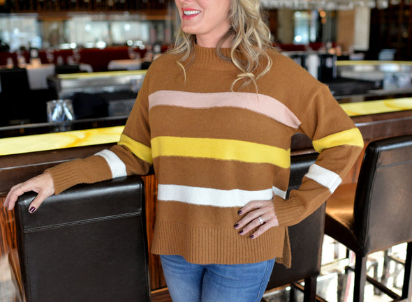 Candy Corn Striped Sweater