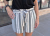 Checker Striped Shorts