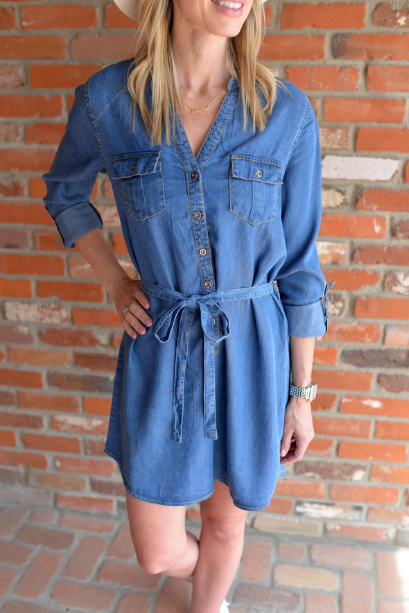 Tencel Shirt Dress