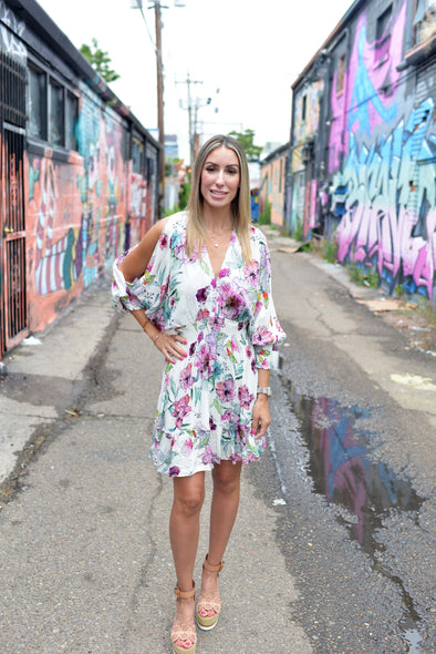 The Floral Beauty Dress- Rose