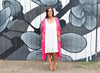 Fiesta Pink Medallion Kaftan with Tassels