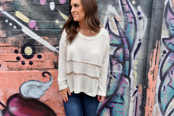 Gold Fleck Waffle Thermal Top