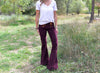 All Tied Up Corduroy Flare Pant