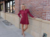 Brick Red Shirt Dress