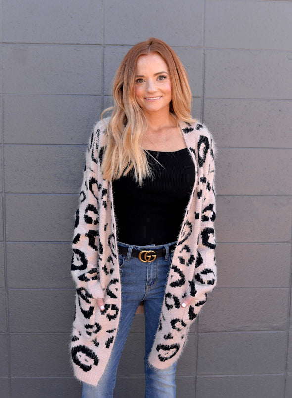 Pink-a-licious Leopard Cardigan