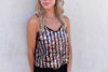 Rainbow Sequin Cami Top