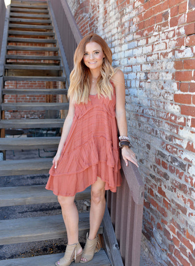 The Heather Dress- Rust