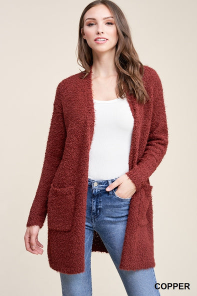 Fuzzy Copper Cardigan