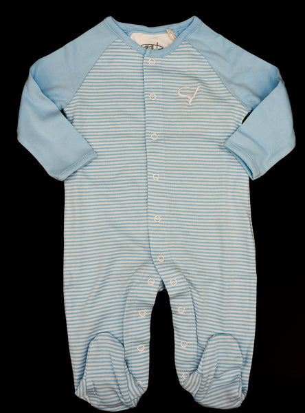 Infant Boy's Long Sleeve Footed Romper